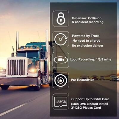 Sykik SRX2V Dash Cam System for Cars Trucks RVs - 1080p 3 Channel 3 Camera NEW