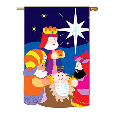 Three Kings - Applique Decorative House Flag - H114067-P2