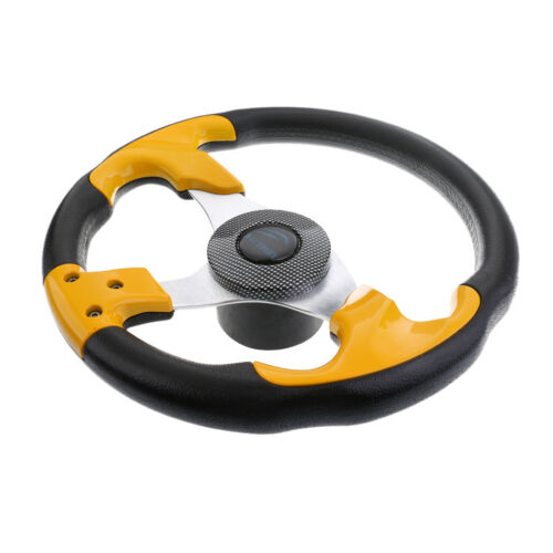 "Boat Steering Wheel Soft Grip Standard 3/4"" 3 Spoke 315mm Yacht Sport Wheel"