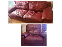 Sofa set - 3 seater sofa bed and power recliner chair
