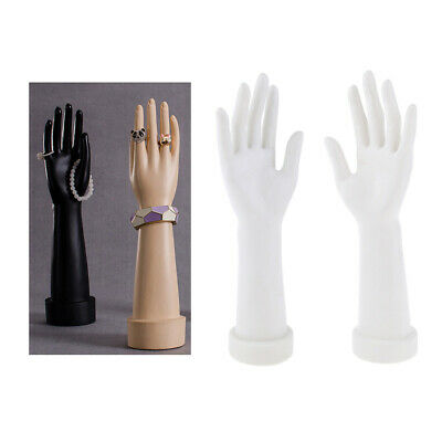 1 Pair Mannequin Hand Arm Display Base Female Gloves Jewelry Model - White