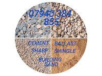 BUILDING SAND - SHARP SAND - BALLAST - CEMENT - BRICKS