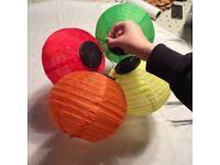 Solar powered lanterns - wedding