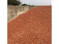 20 mm red garden and driveway chips/gravel