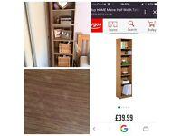 Oak effect deep shelving unit