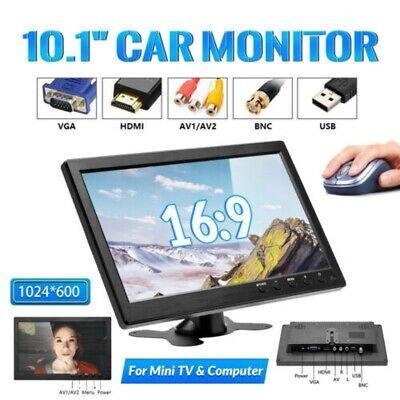 10.1 inch HD CCTV Display Screen PC Car Monitor AV/BNC/VGA/HDMI With Speaker