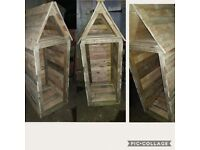 Handmade to order planters birdtables log stores storage