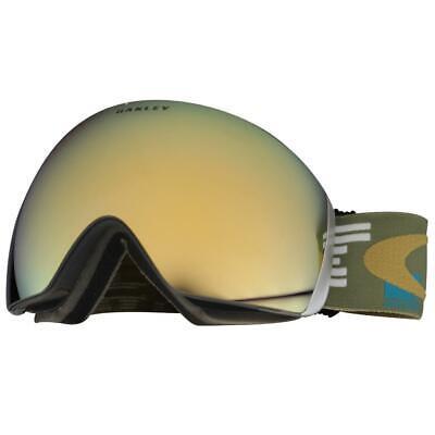 Oakley OO 7050-10 Flight Deck Disruptive Blue Copper 24K Lens Snow Ski Goggles .