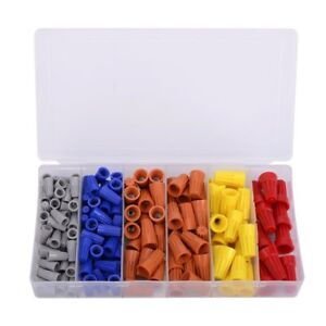 158PCS Electrical Wire Connectors Screw Terminals,with Spring Insert Twist Nuts