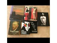 Collection of art and music books