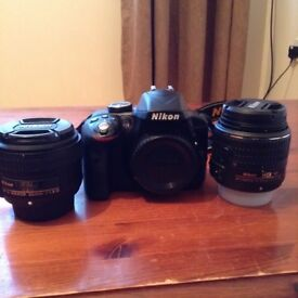 Nikon D3300 DSLR plus Nikon Nikkor 50mm f1.8 G AF-S lens and 18-55mm lens and Jessops camera Bag
