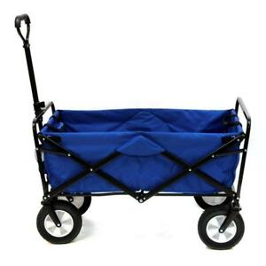 ( 1 AVAILABLE ) New Mac Sports Collapsible Folding Outdoor Utility Wagon, Blue  (Pick-up Only) -PU3