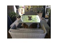 Stunning New B&Q Soron 5 Piece -8 Seater Rattan Dining / Garden Patio Set