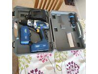 Draper hammer drill plus 2 batteries