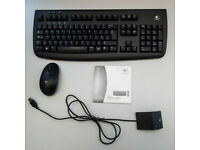 Logitech Deluxe 660 cordless keyboard and mouse