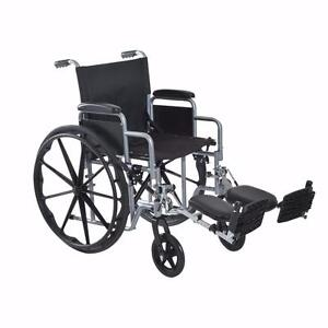 Self Transport Folding Wheelchair Padded Arm w/ Elevating Largest Pads Wheel Chair
