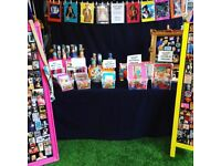 Market Stall set up. Magnet Boards. LED Light. Stall Clips. Stall Coverings. Job Lot.