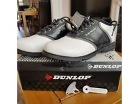 NEW DUNLOP LEATHER MENS GOLF SHOES SIZE 7/40.5