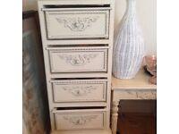 Cream chest of drawers shabby chic