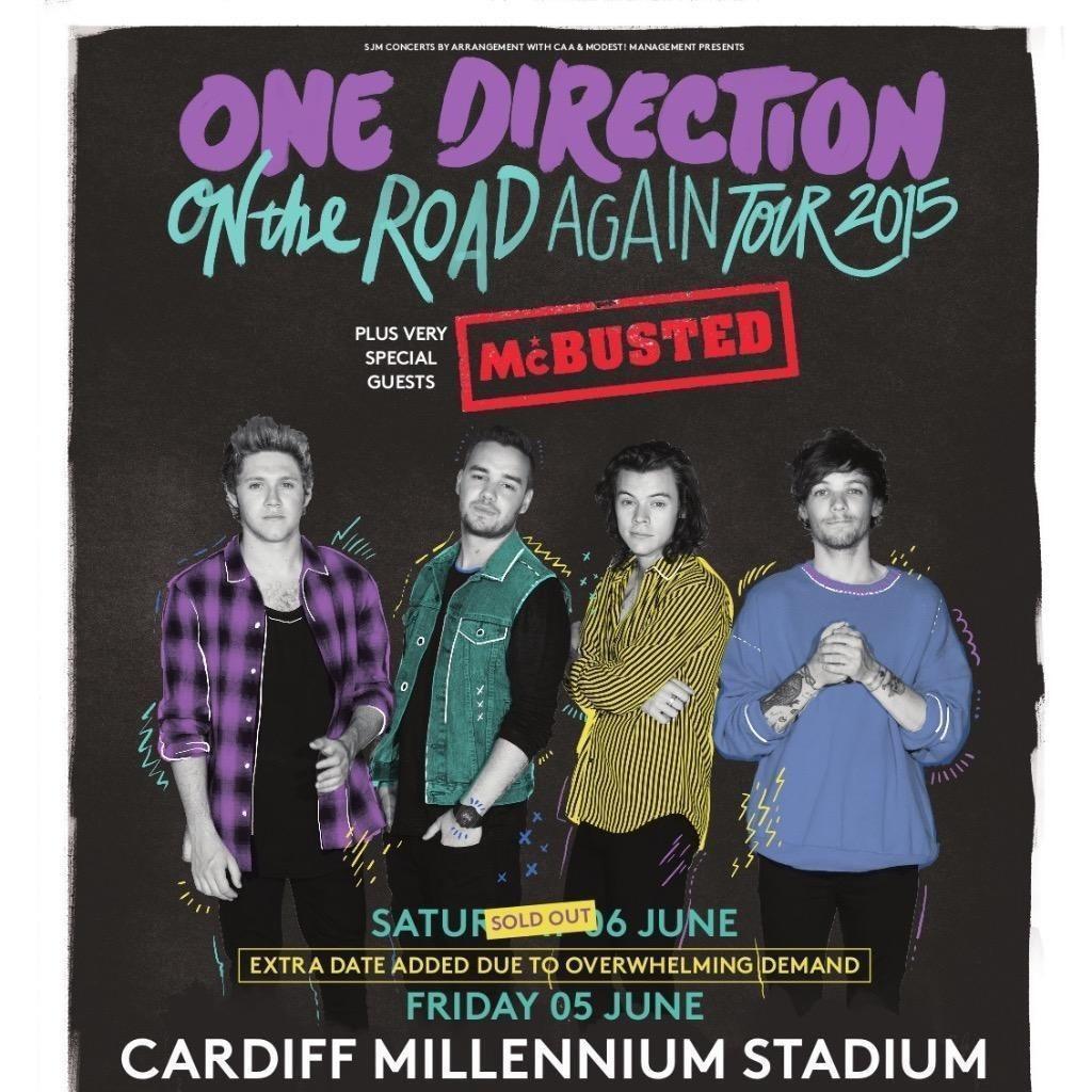 Super One Direction Ticket Sat 6Th June Cardiff Great Seat Customarchery Wood Chair Design Ideas Customarcherynet