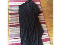 Black maternity evening dress