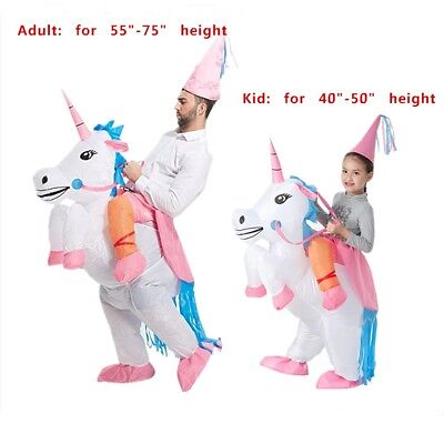 Adult Kids' Unicorn Costume Inflatable Suit Halloween Cosplay Fantasy Costumes - Fantasy Adult Costumes