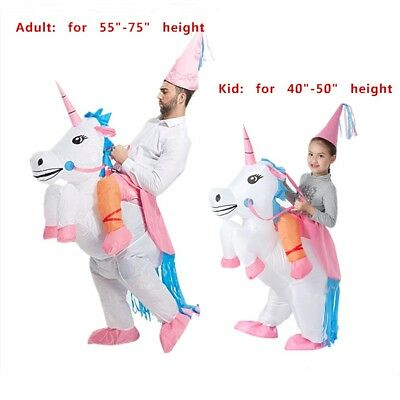 Adult Kids' Unicorn Costume Inflatable Suit Halloween Cosplay Fantasy Costumes](Halloween Suit Costumes)