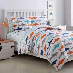 New, VCNY Home Finn Shark 7-Piece Full Comforter Set in Navy *PickupOnly