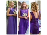 Two Cadbury Purple Bridesmaid Dresses - Size 8