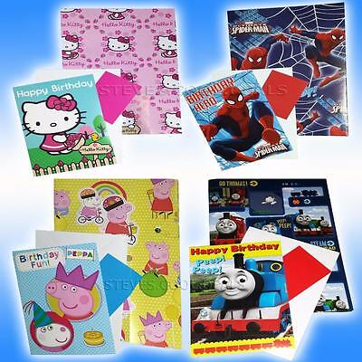 Birthday cards Wrapping paper Gift tags Hello kitty Spiderman Thomas Peppa pig   (Thomas Wrapping Paper)