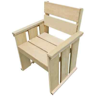 vidaXL Outdoor Dining Chair Impregnated Pinewood 61x56x89cm Garden Seat