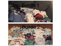 Two large (30 items) newborn boy bundles, £15 each