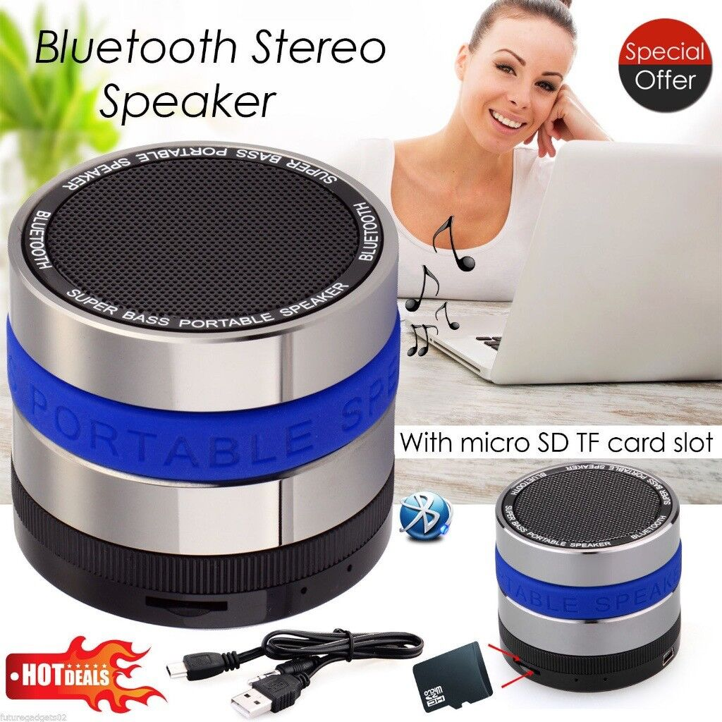 New !!! Bluetooth Wireless Speaker Mini Portable Super Bass iPad MP3 Tablet Apple iPhone