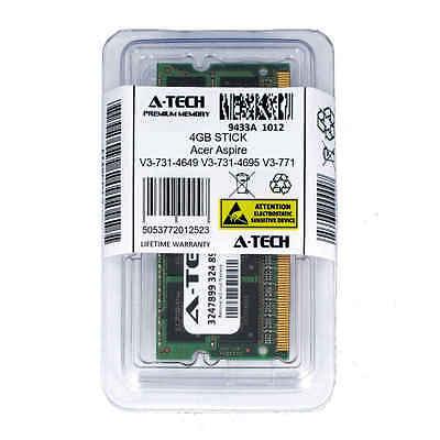 4GB SODIMM Acer Aspire V3-731-4649 V3-731-4695 V3-771 V3-771-6449 Ram Memory