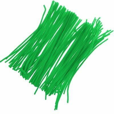 GREEN Pipe Cleaners Chenille Craft Stems Arts Crafts Easter 30cm x 6mm