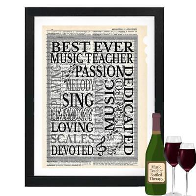 Best Ever Music Teacher Dictionary Art Print Contemporary Music Teachers (Best Music Teachers)
