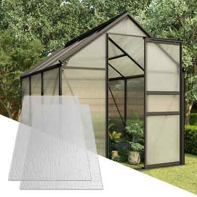 vidaXL 2x Paneles de Policarbonato 6 mm Lámina Placa Cubierta Invernadero