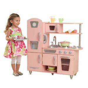(DI21) NEW KidKraft 53179 Vintage Kitchen in Pink- PICK UP ONLY!!