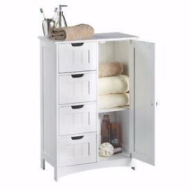 4 Drawer Storage Unit - White Colonial Style for the Bedroom or Bathroom Furniture