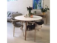 Designer dining table from Unto this last