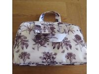 Sanderson Etchings and Roses Black/White Travel Wash Bag - Used but in Good Condition