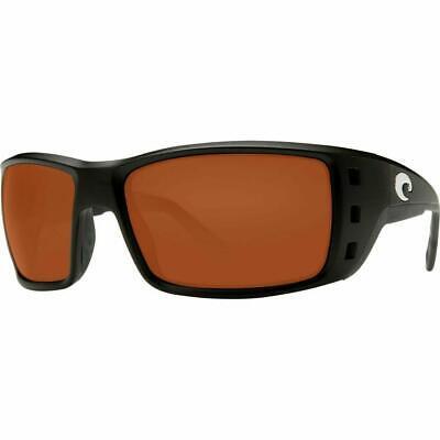 98f7b7bd56 New Costa del Mar Permit Polarized Sunglasses Matte Black Copper 580P XL Fit