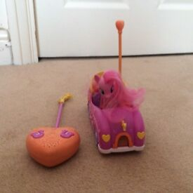 My little Pony Pinkie Pies remote control car playset with sound (Nearly NEW) £15