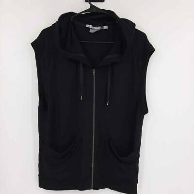 Athleta Womens Activewear Vest Top Menacing Sleeveless Hooded Full Zip Stretch S