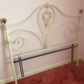 Double size metal headboard, very good condition