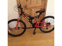 """Toysrus 24"""" covert double suspension bike with disc brakes"""