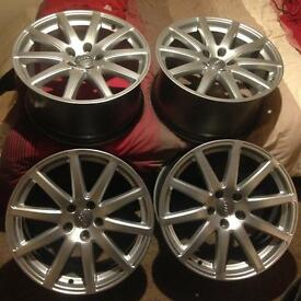 Audi TT Mk2 Speedline Alloy Wheels 5x112 18x9J Et52 Seat Golf Mk5 Mk6