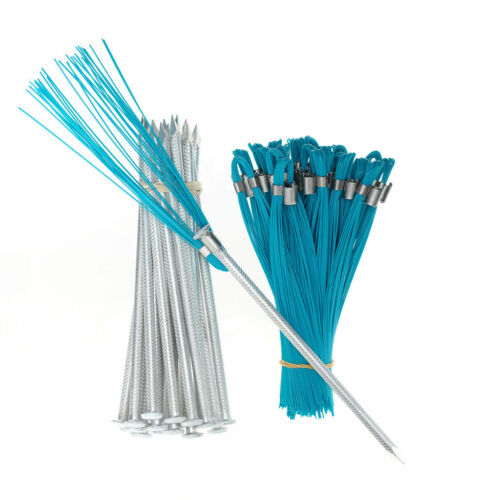 Marking Flags 6 In Blue Whiskers with Stakes 25 Pack- Flagging, Irrigation