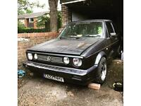 Car now sold.........Mk1 1988 Golf Clipper Convertible **project**
