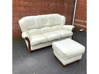 Extremely Comfy Sofa 3 Seater + Footstool - NEED TO BE GONE BY Sunday ( Delivery FREE )
